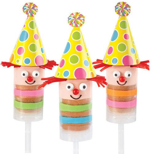 Birthday Clowns Treat Pops